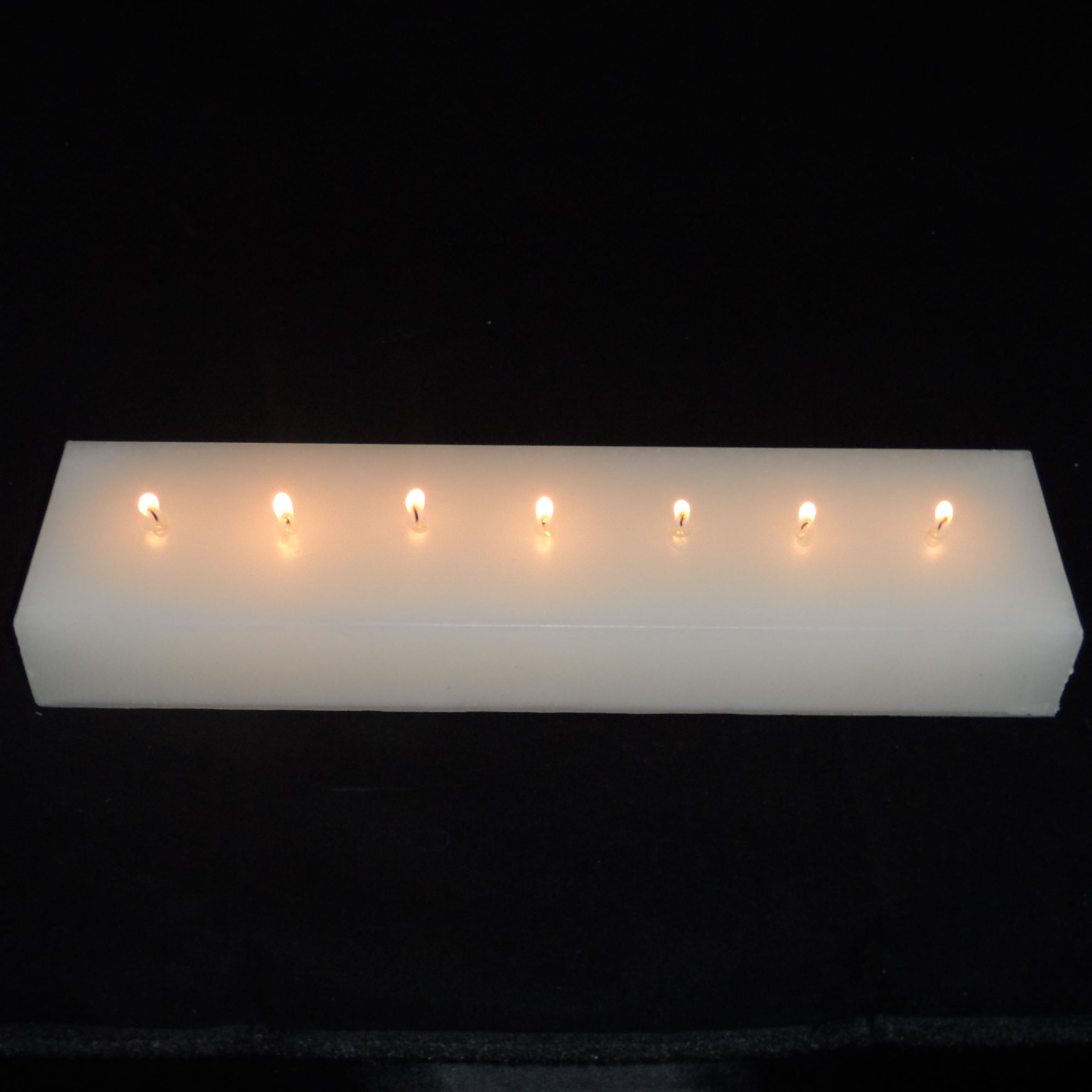 Multi Wick Candles Multi Wick Block Candles White 7 Wicks Golden Glow Candles