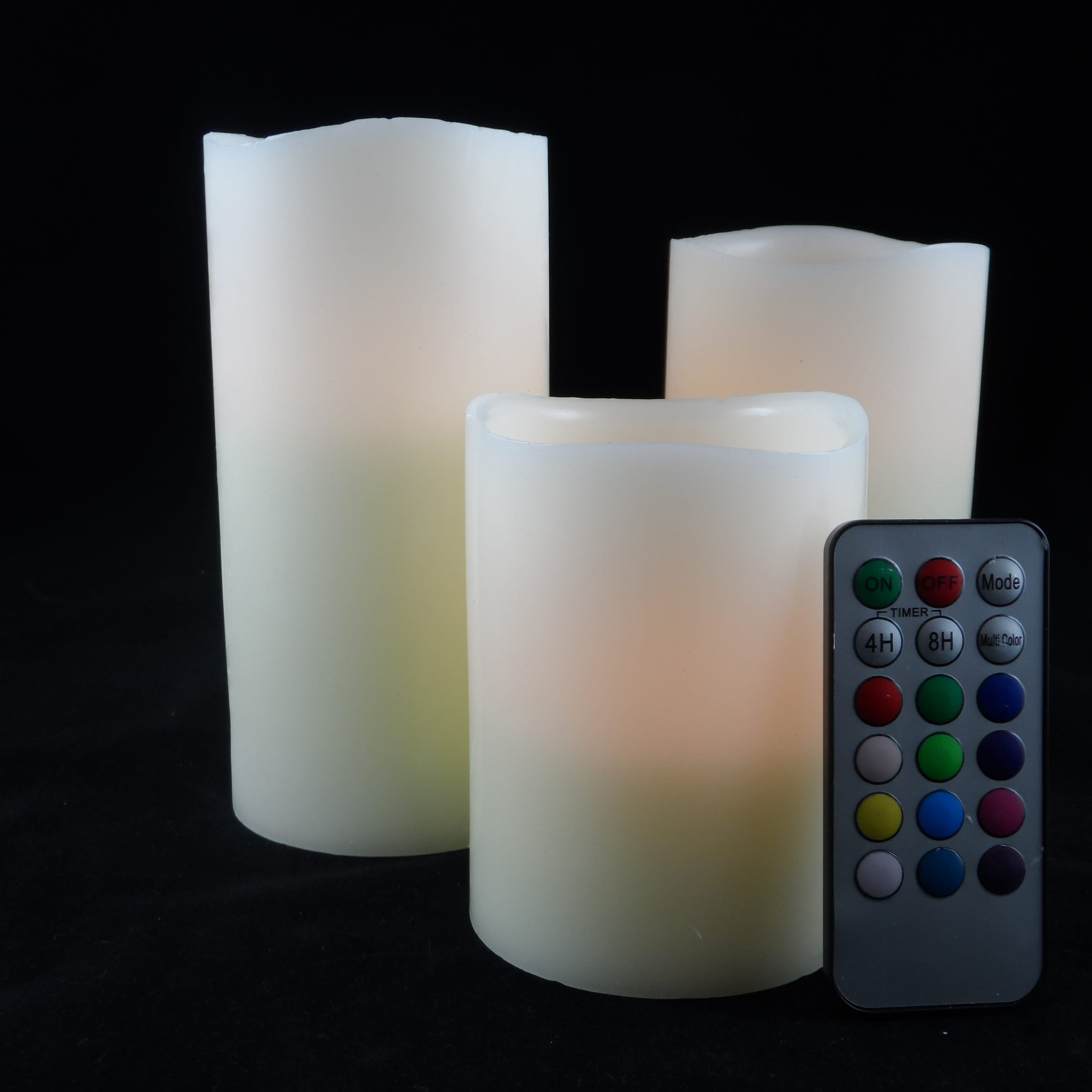 Multi Wick Candles Multi Wick Block Candles White 3 Wicks Golden Glow Candles